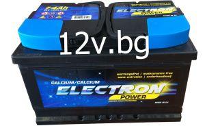 Акумулатор 12/74 R+   ELECTRON