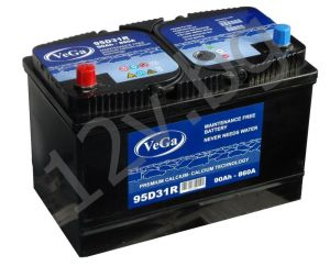 Battery VeGa 90L+JIS