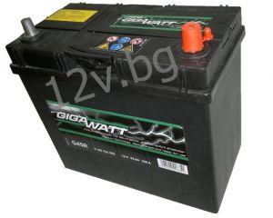Акумулатор Gigawatt 45 R+ JIS