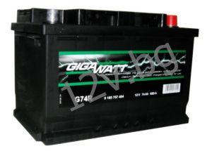 Акумулатор Gigawatt 74 R+
