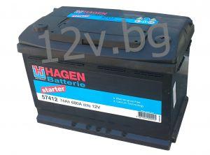 Акумулатор HAGEN 74 R+