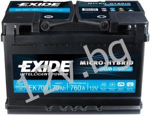 Акумулатор Exide AGM 70 Ah R+