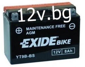 Акумулатор Exide Bike YT9B-BS