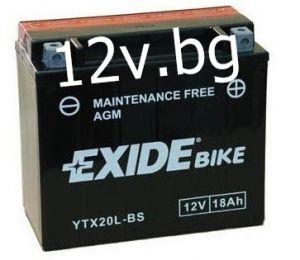 Акумулатор Exide Bike YTX20L-BS