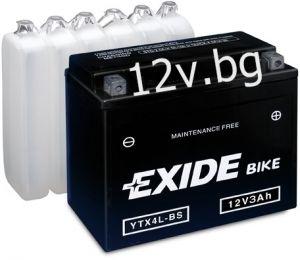 Акумулатор Exide Bike YTX4L-BS