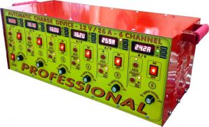 Автоматично зарядно устройство 6*12V - 25A