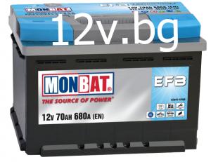 Акумулатор MONBAT EFB START-STOP 70 Ah R+