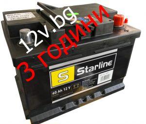 Акумулатор Starline 12/60 Ah R+