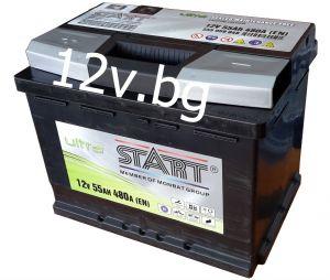 Акумулатор START Ultra - 12/55 Ah L+