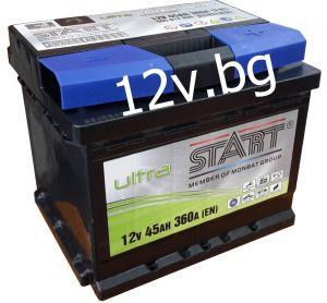 Акумулатор START Ultra - 12/45 Ah R+