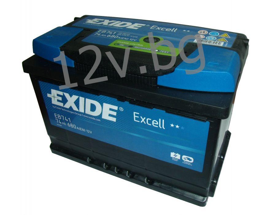 battery exide excell 74 ah l. Black Bedroom Furniture Sets. Home Design Ideas
